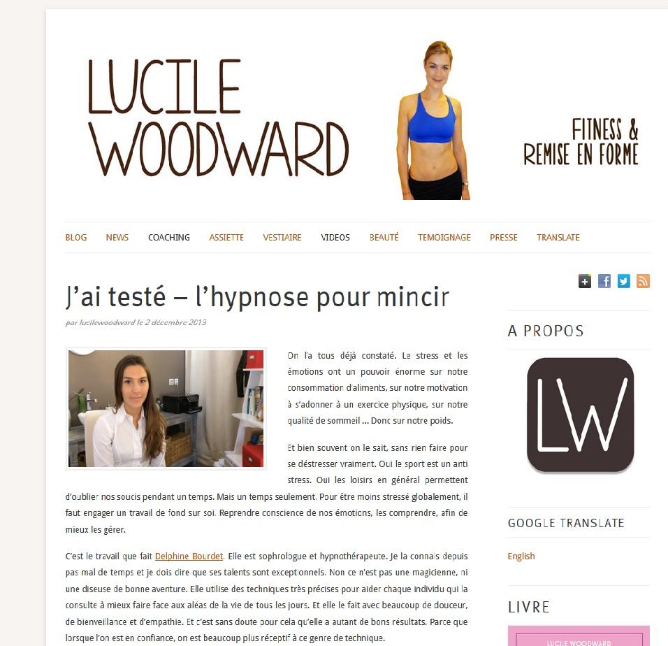 Lucile woodwar teste l'hypnose avec Delphine Bourdet